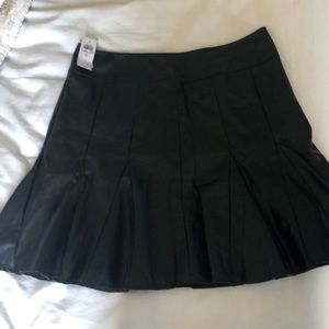 Ann Taylor Faux Leather pleated skirt